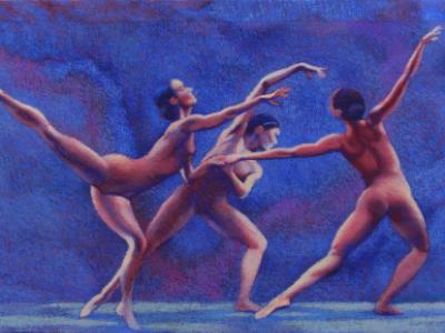 dancers joining hands